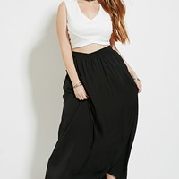 Plus Size Belted Maxi Skirt | Forever 21 PLUS - 2000172868