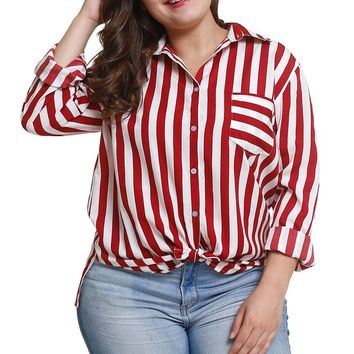 Tuck In/Out Vertical Striped Shirt