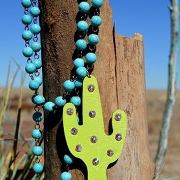Cactus Kate Necklace from Crazy Train