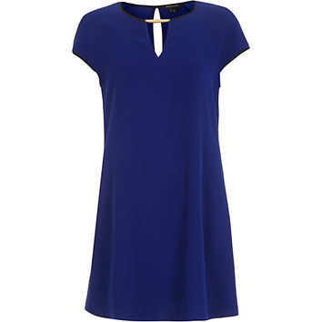 River Island Womens Blue cut out swing dress