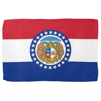 Kitchen towel with Flag of Missouri, U.S.A.
