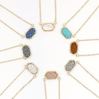 Fashion Choker Necklace for Women 2016 Claw Cute Faux Quartze Oval Pendant Druzy Necklace Jewelry for Women-in Choker Necklaces from Jewelry & Accessories on Aliexpress.com | Alibaba Group