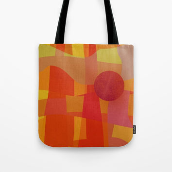 Red Hot Sun Tote Bag by Mirimo