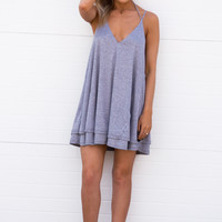PRISCILLA Ribbed Grey Dress
