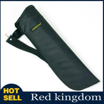 "19"" Traditional Archery Accessory Black Oxford Side Belt Waist Arrow Quiver Holder Bag"