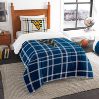 West Virginia Mountaineers NCAA Twin Comforter Set (Soft & Cozy) (64 x 86)