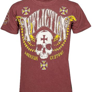 Affliction American Customs Saints Flag T-Shirt