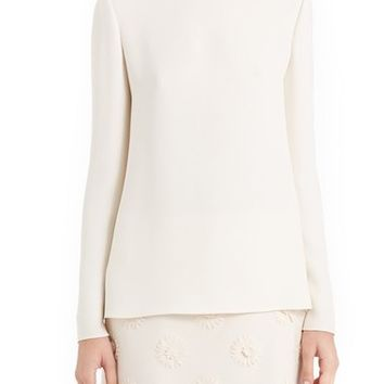 Valentino Back Bow & Cowl Cady Blouse | Nordstrom