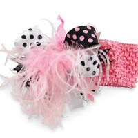 Mud Pie Baby-girls Newborn Party Headband, Black/Pink, One Size