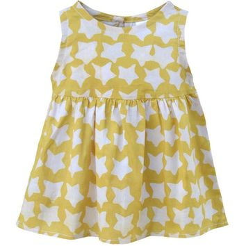 Fair Trade Baby Sundress Yellow Stars