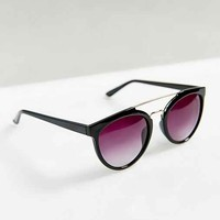 Moto Mechanical Wayfarer Sunglasses- Black One
