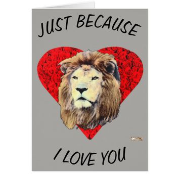 Husband Just Because Love Greeting by Kat Worth Card