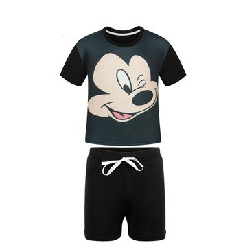 Hot 2017 New Summer Style Baby Boy Clothing Set Mickey T Shirt+Shorts Suits Kids Clothes Set Cotton Cartoon Children's Clothes