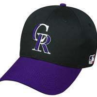 Colorado Rockies (Purple Bill) YOUTH (Ages Under 12) Adjustable Hat MLB Officially Licensed Major League Baseball Replica Ball Cap