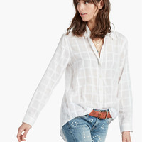 White Textured Shirt | Lucky Brand