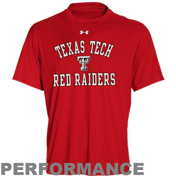 Under Armour Texas Tech Red Raiders Catalyst Performance T-Shirt - Scarlet