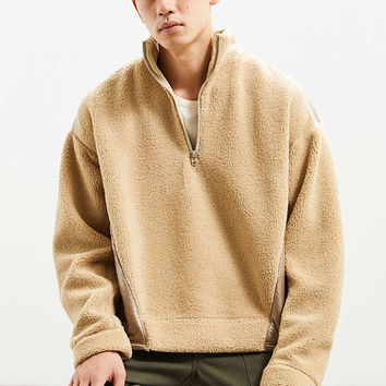 JieDa Fleece Half-Zip Sweatshirt | Urban Outfitters
