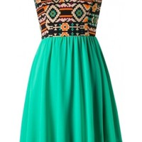 Jade Tribal Dress