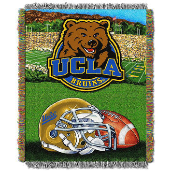 UCLA Bruins NCAA Woven Tapestry Throw (Home Field Advantage) (48x60)