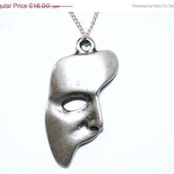 On sale Phantom Of The Opera Necklace, Phantom Mask,Phantom Of The Opera Pendant