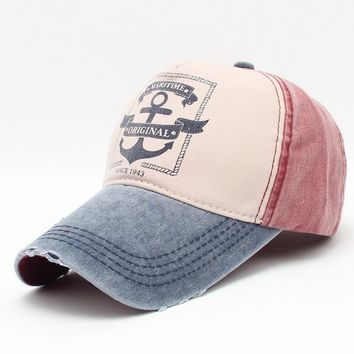 retro anchor basketball caps men women baseball cap 2