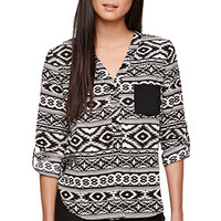 LA Hearts Printed Tunic Shirt at PacSun.com