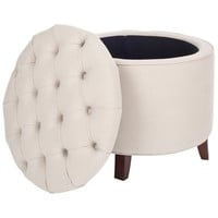 Safavieh Reims Light Grey Storage Ottoman | Overstock.com