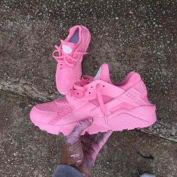 New Custom Triple  All Pink Huaraches