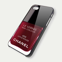 Chanel Le Vernis Nail Colour Lotus Rouge iPhone 4 / 4S / 5 Case Hard Plastic Cover RTA