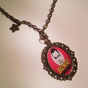 Big Bang Theory Sheldon Cooper Cameo Necklace by RabbitJewellery