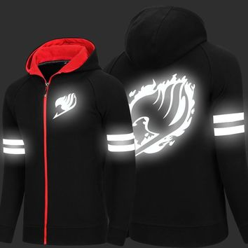 New Arrive Men Women Fairy Tail Hoodie Anime Coat Sweatshirt Cosplay Costume Unisex Jacket