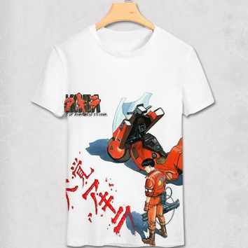Akira Shotaro Kaneda The Capsule Motorcycle Japanese Anime Film T-shirt Tee Mens Summer Style Adults T Shirt  Alien Tshirt