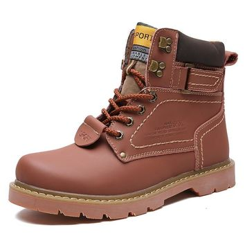 Genuine Leather Work and Safety Boots