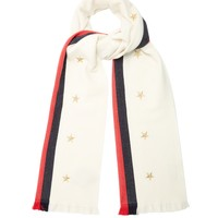 Star and Web-striped wool-blend scarf | Gucci | MATCHESFASHION.COM US