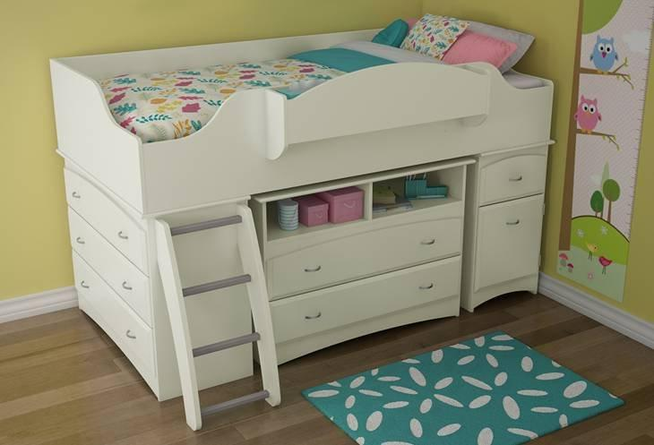 Giselle White Mid High Loft Bed From Totally Kids Fun