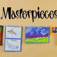 Masterpieces Vinyl Lettering decal wall kids by itswritteninvinyl