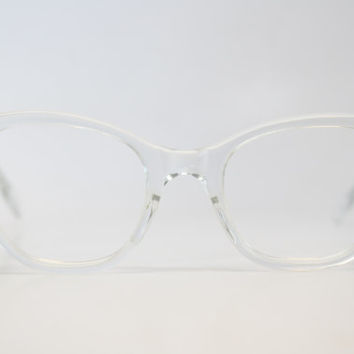 295a9f50b4 Clear cat eye glasses vintage cateye frames eyeglasses 1950s glasses
