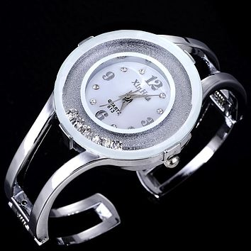 Fashion Full Steel Bracelet Watch Women Watches Rhinestone Women's Watches Ladies Watch Clock saat relogio feminino reloj mujer