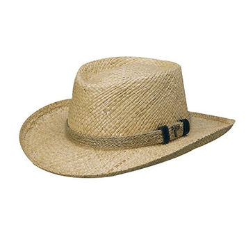 Scala Organic Raffia Gambler with Jute HAT (L)