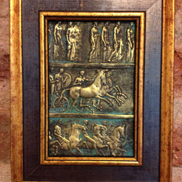 Bronze Bas Relief Wall, Art Objects, Replica of Ancient Antique Bas Relief,Art Relief Painting,Ancient Replica,Painting,Gift Paintings,Gift