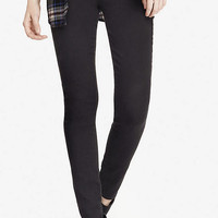 Black Mid Rise Extreme Stretch Jean Legging from EXPRESS