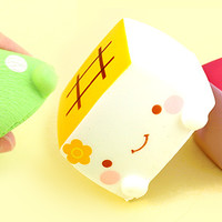 Buy Kawaii Squishy Hannari Tofu Cube Figure at Tofu Cute