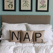 NAP Letter Pillows - Inserts Included