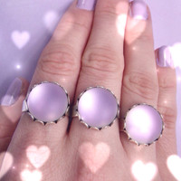 Violet glass frost ring adjustable