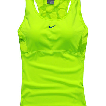 NIKE Woman Casual Gym Sport Yoga Embroidery Print Shirt Top Tee