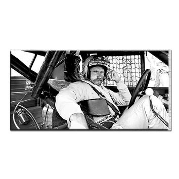Fast US Ship - Dale Earnhardt SR NASCAR wall art racing black white
