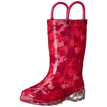 Western Chief Girls Lovely Camo Printed Light Up Rain Boots