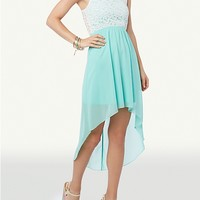 Lace Tank Top High Low Dress