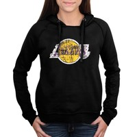 Women's Los Angeles Lakers New Era Black Core Team Glitter Logo Pullover Hoodie