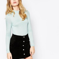 Vero Moda High Neck Long Sleeve Top at asos.com